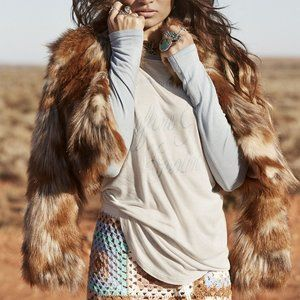 Spell Gypsy Collective Nomad Faux Fur Jacket